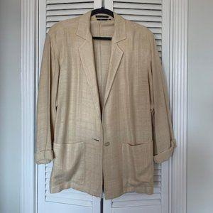 Vintage Neutral Blazer - Medium